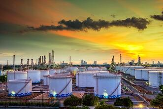 Oil and gas industry - refinery at sunset - factory - petrochemi.jpg