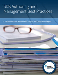 SDS Authoring and Management Best Practices.