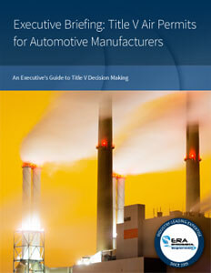 Executive Briefing: Title V Air Permits for Automotive Manufacturers.