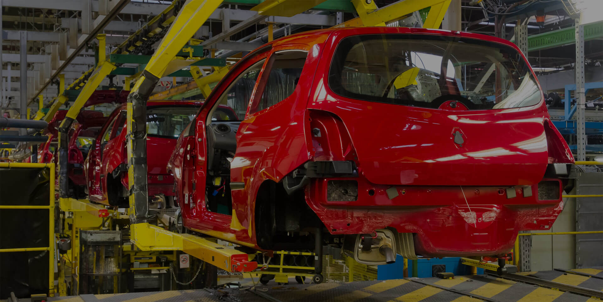 Automotive manufacturing plant that uses an environmental management system.