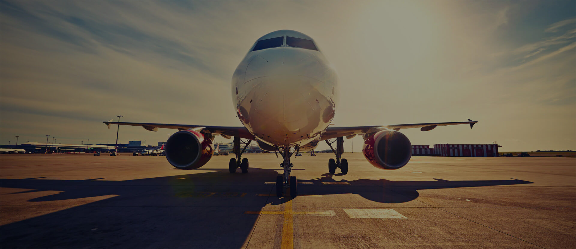Aerospace manufacturer uses aviation industry software to build a plane on runway.