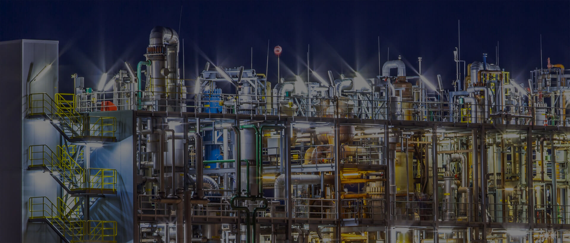 Chemical plant that uses EHS management software to deal with environmental compliance.
