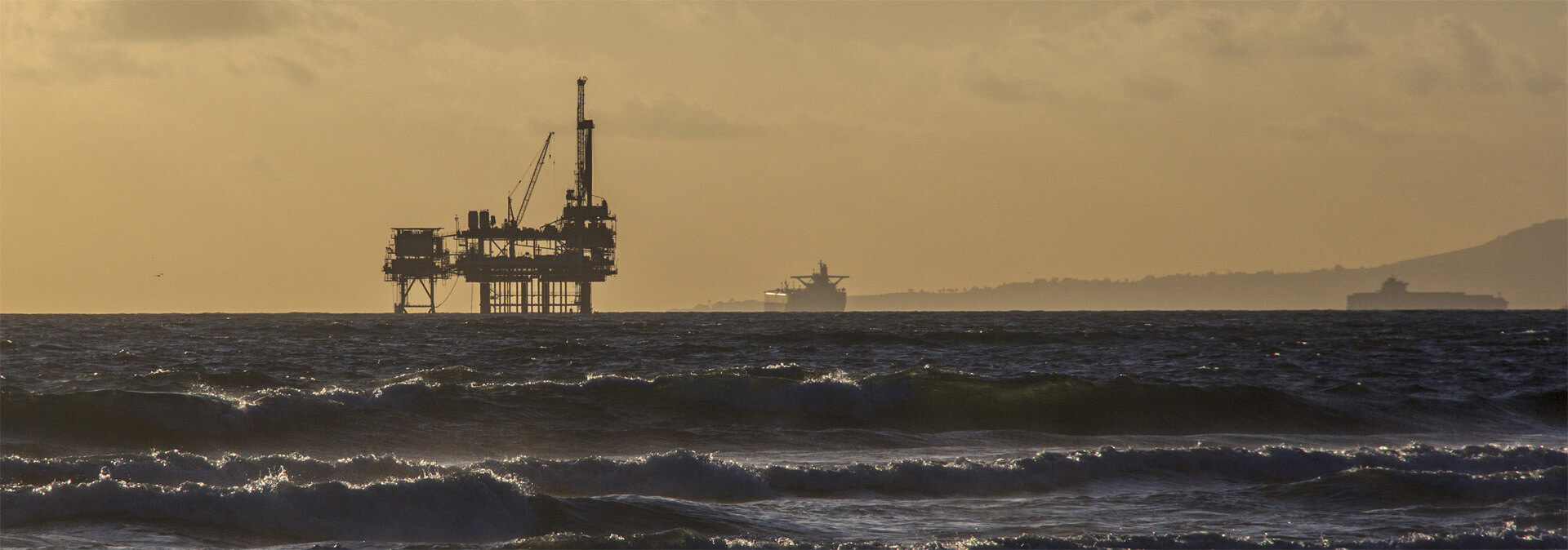 Offshore oil and gas platform that complies with EH&S standards.