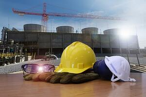 PPE safety equipment at construction site