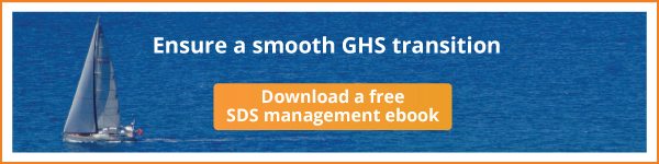 GHS Transition SDS Management